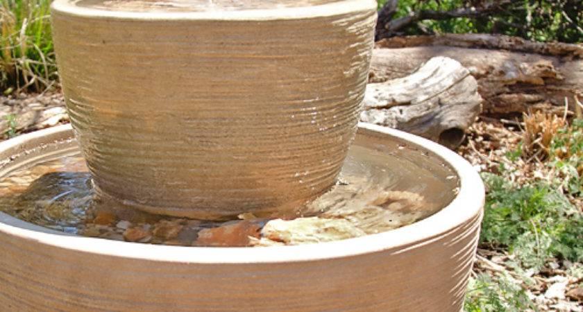 Home Made Garden Fountain Design Inside