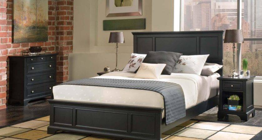 Home Styles Bedford Queen Bed Night Stand Chest Commerce