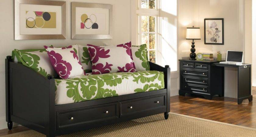 Home Styles Bedford Storage Daybed Expandable Desk