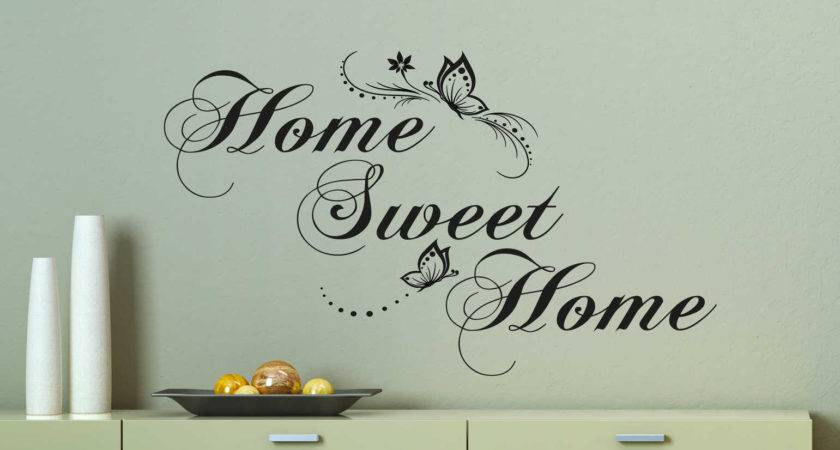 Home Sweet Butterfly Wall Decal Sticker Decals