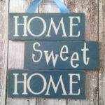 Home Sweet Sign Made Reclaimed Pallet Wood