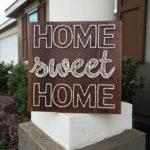 Home Sweet String Art Sign