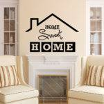 Home Sweet Wall Decal Quote Sign Vinyl
