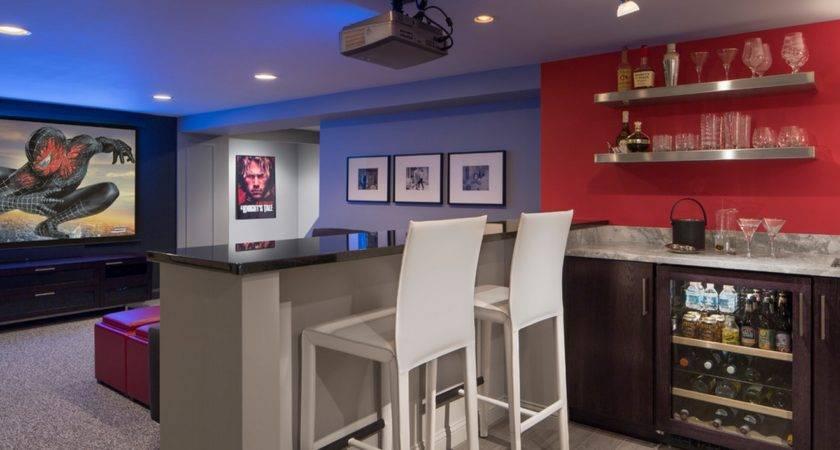 Home Theater Wet Bar