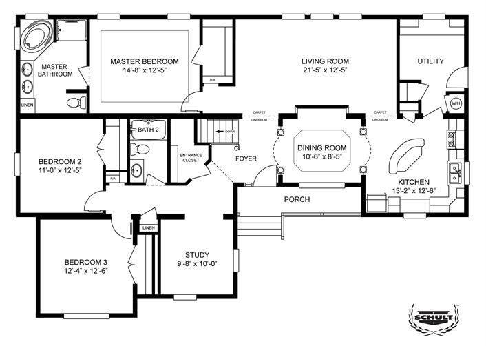 Homes Home Floor Plan Manufactured Modular Mobile