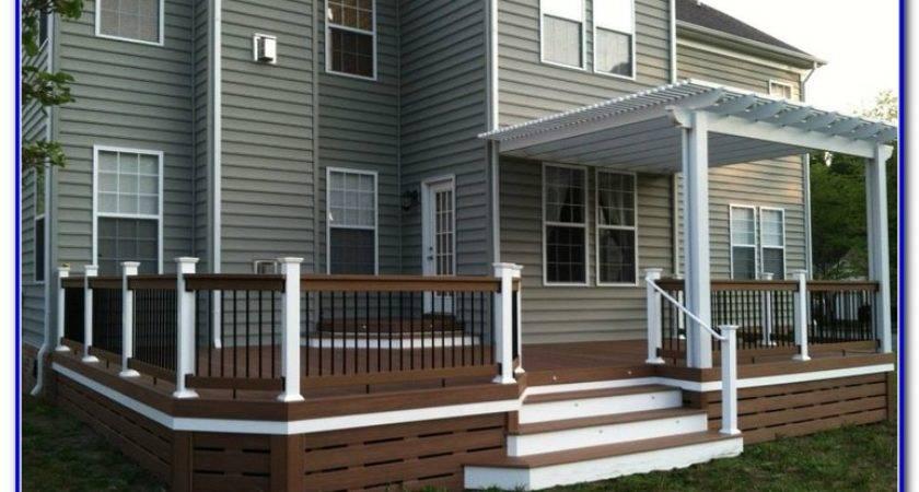 Horizontal Deck Skirting Ideas Decks Home Decorating