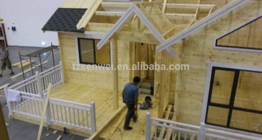 House Design Single Storey Terrace Log Cabin China Prefabric Homes