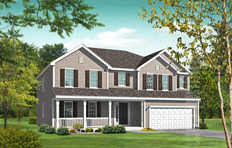 House Illustration Home Rendering Meridian Mississippi