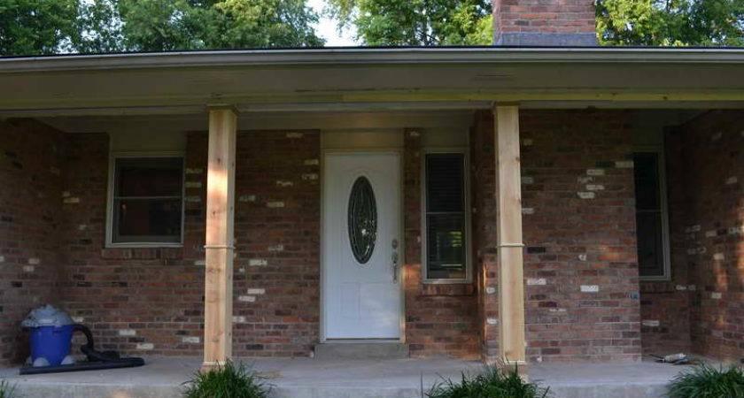 Ideas Front Porch Columns Brick Material