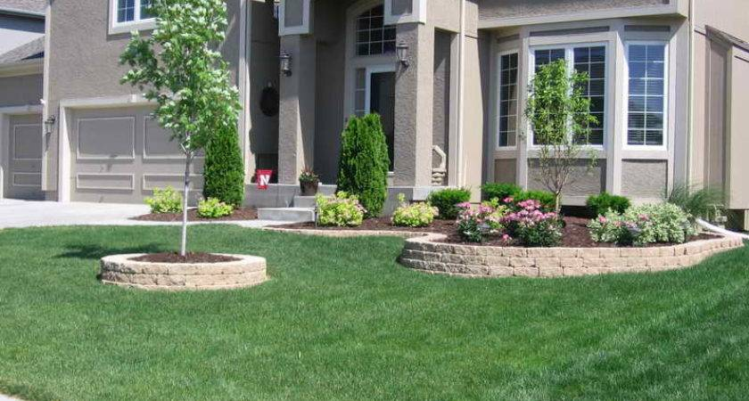 Ideas Front Two Story House Yard Landscaping