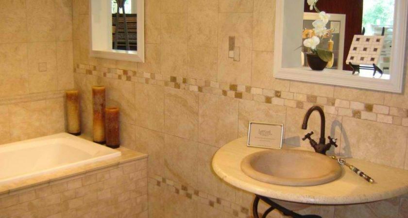 Ideas Neutral Bathroom Tile Designs Small