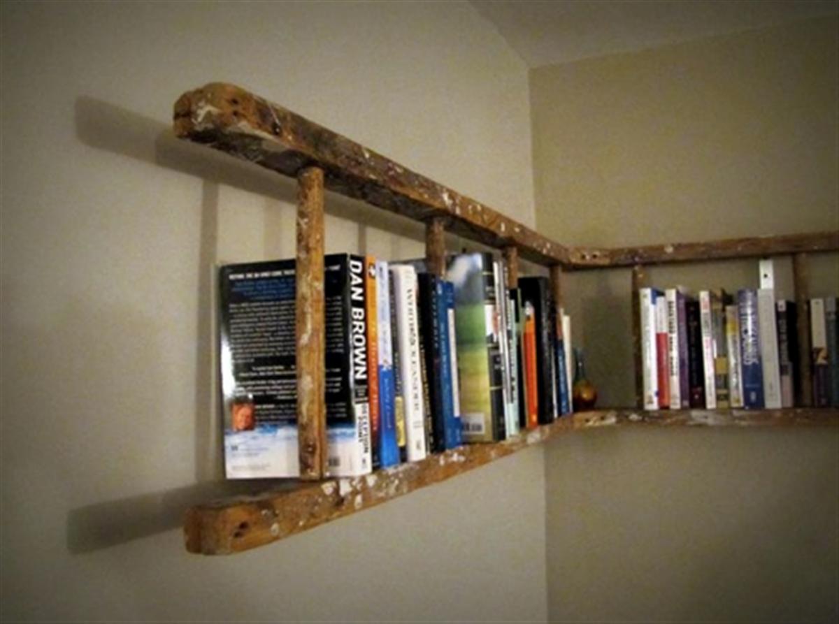Ikea Ladder Bookcase Creative Cool Bookshelves Furniture Set