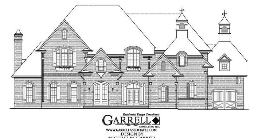 Innes Manor House Plan Front Elevation Two Story Plans