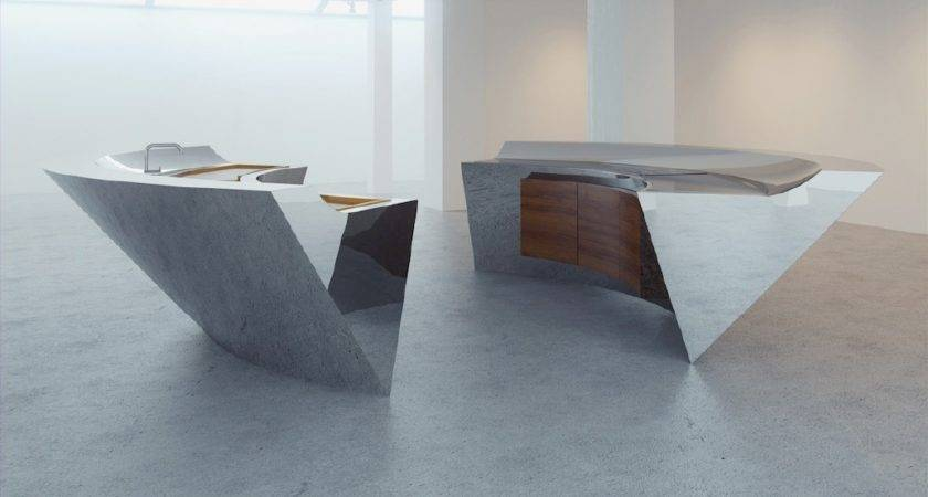 Innovative Kitchens Curvaceous Countertops Kitchen