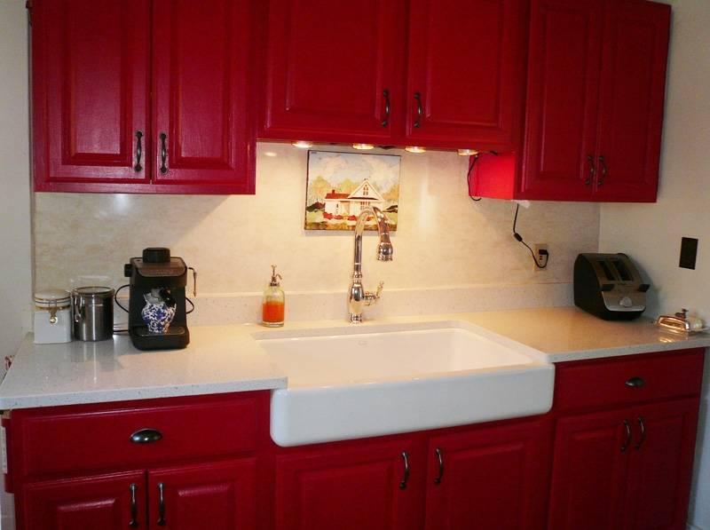 Installs Enameled Cast Iron Kitchen Sink American Gothic House