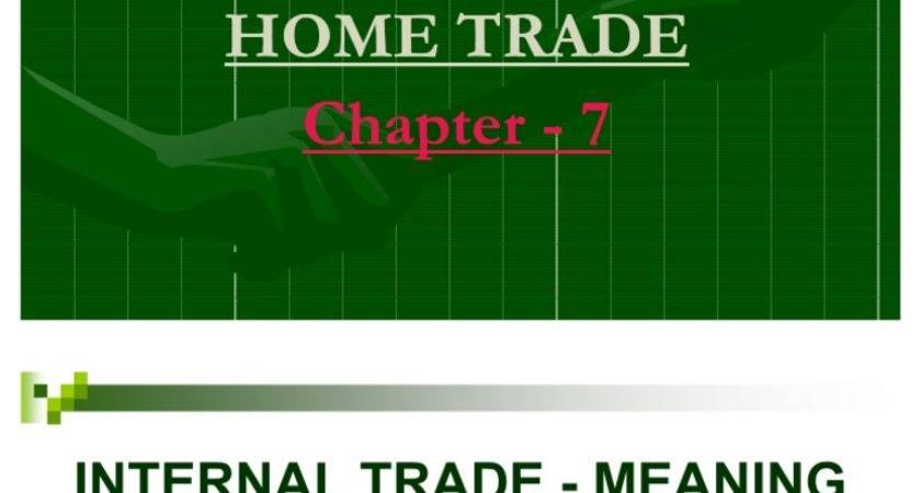 Internal Trade Home Good Economics Wholesale