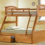 Joseph Maple Triple Sleeper Bunk Bed Three Storage
