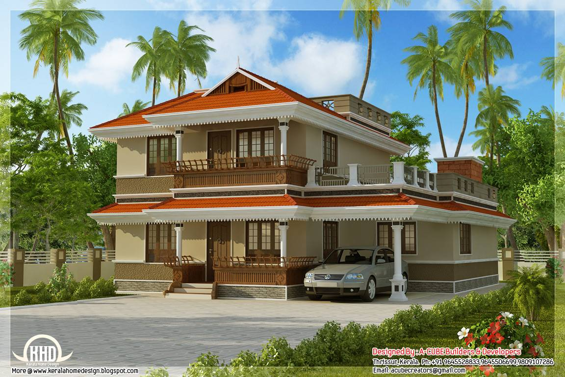 Kerala Model Home Plan Feet Appliance