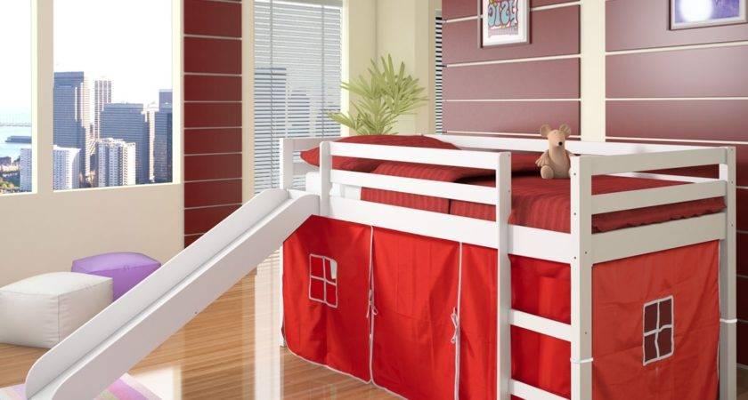 Kids Bunk Beds Slide Simple Home Decoration
