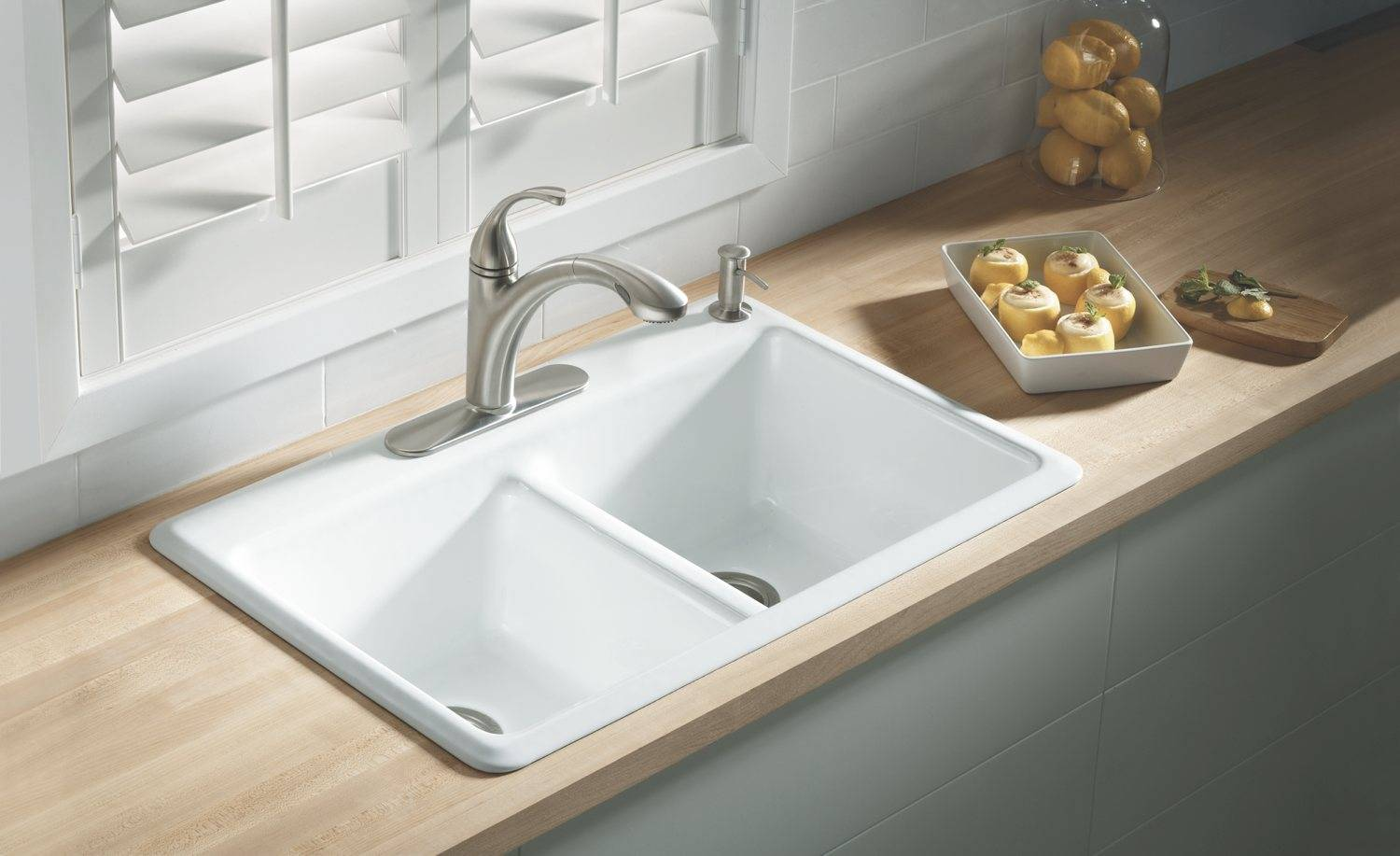 Kohler Anthem Cast Iron Self Rimming Sink Four Hole