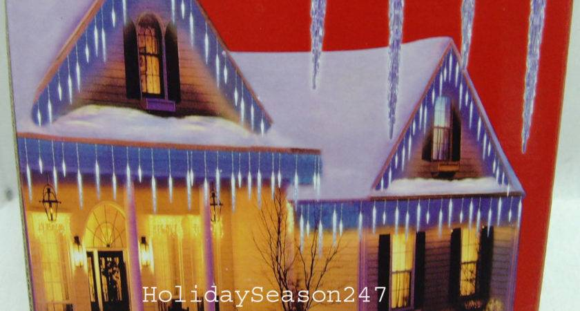 Large Blue Icy Icicle Christmas Led Lights Holiday Outdoor Frozen