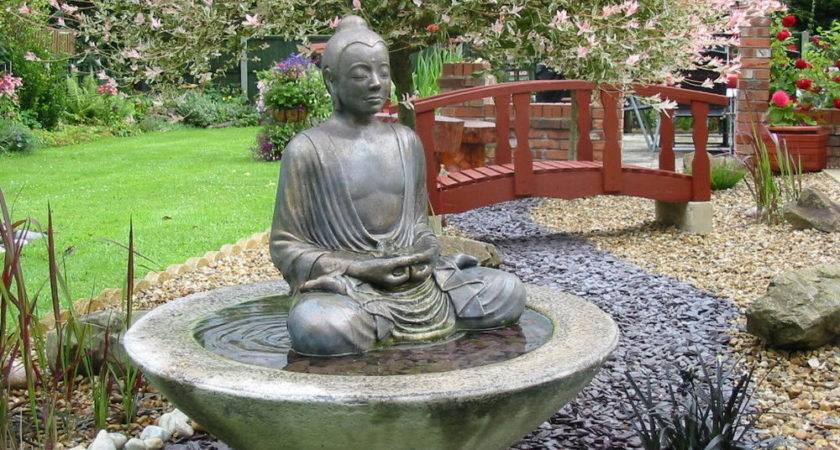 Large Buddha Water Feature Fountain Outdoor Garden Patio Ebay