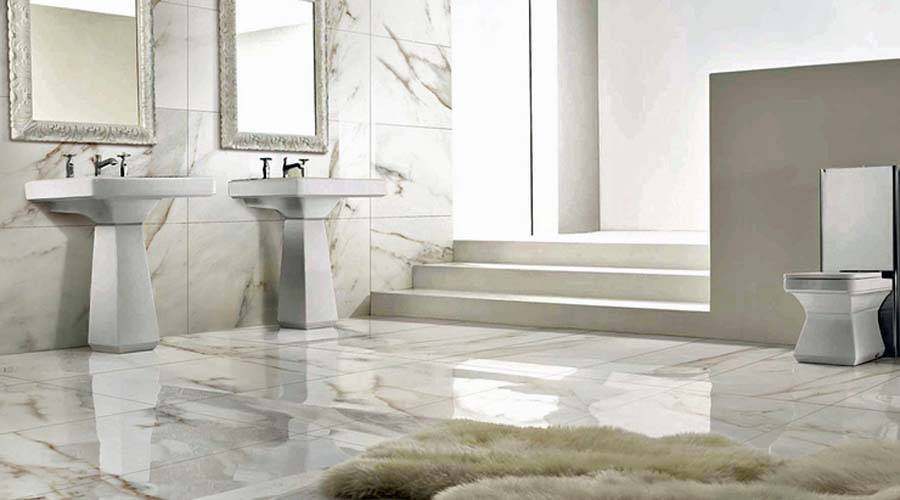 Large Format Ultra Thin Floor Wall Tiles Bathroom