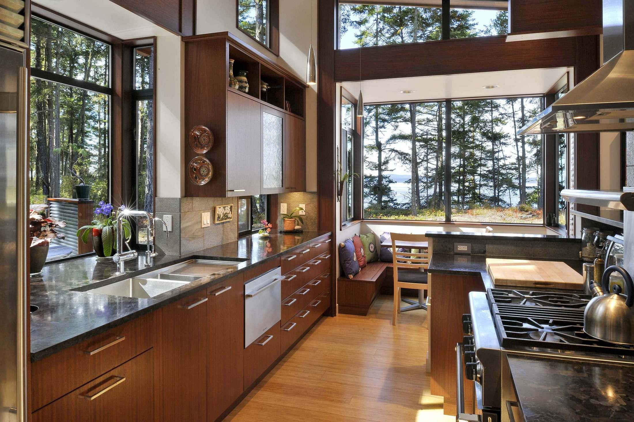 Large Kitchen Window Nook