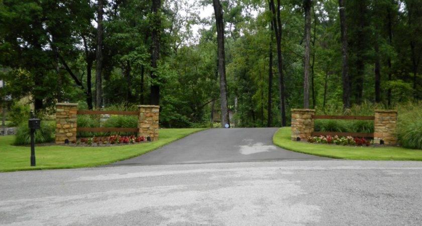 Larson Driveway Entrance Quality Creative Landscaping Llc