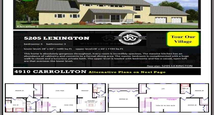 Lexington Wisconsin Homes Inc Modular Colonial Home Plan