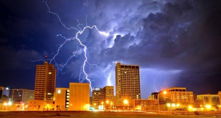 Lightning Strike Midland Skyline Mrt Slideshows