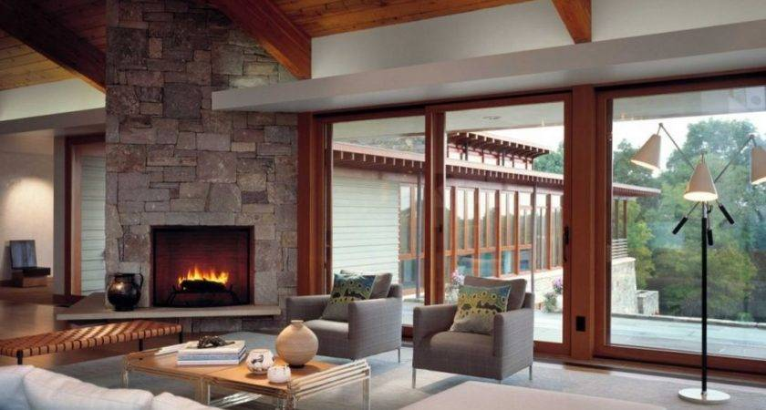 Living Room Fireplace Interior Design Ideas Style Homes