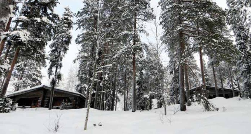 Log Cabins Lapland Finland Luosto Pin Pinterest