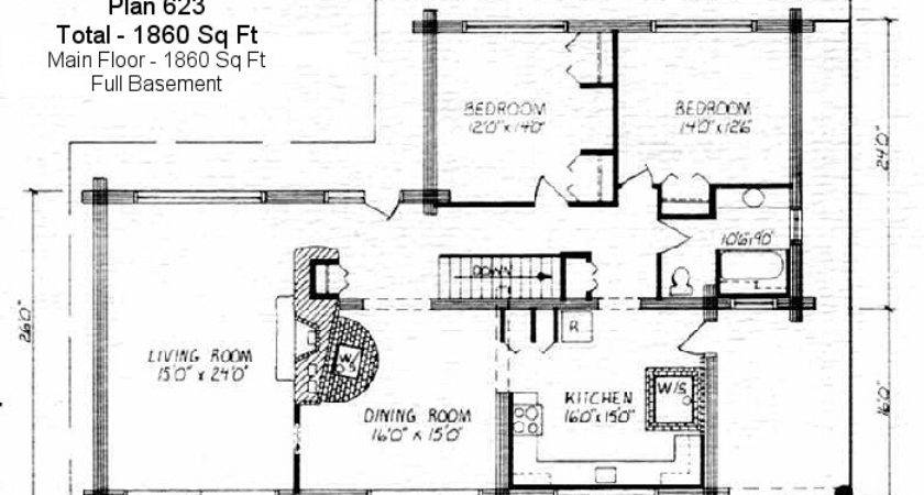Log Home Floor Plan Square Feet