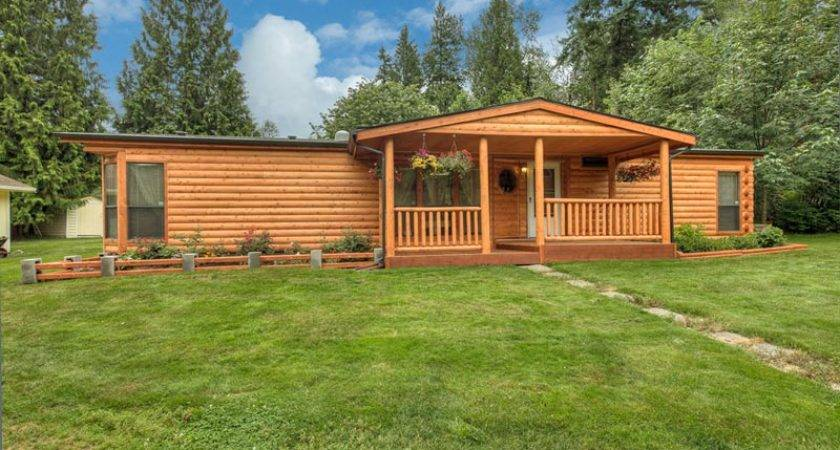 Log Siding Custom Railings Manufactured Home