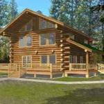 Log Style House Plan Beds Baths