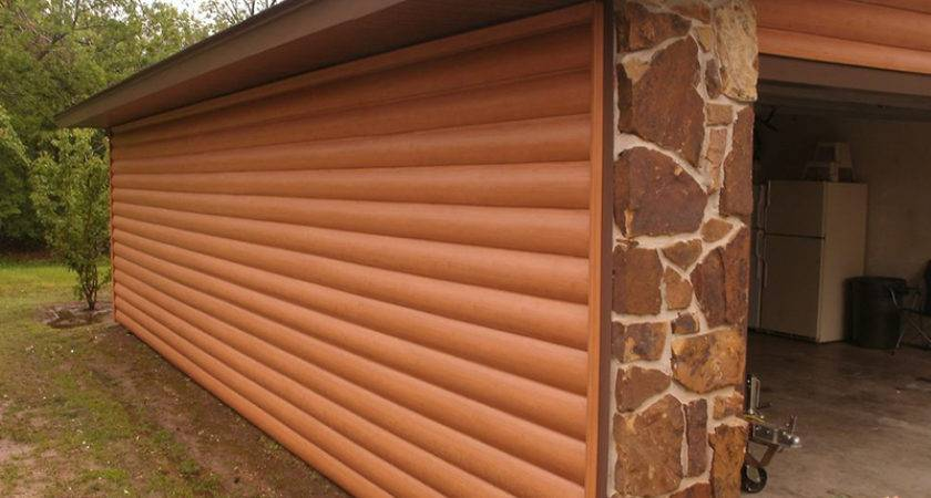Log Style Vinyl Panels Rustic Cabin Look Less