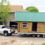 Log Trailer House Small Cabins Woods Pinterest
