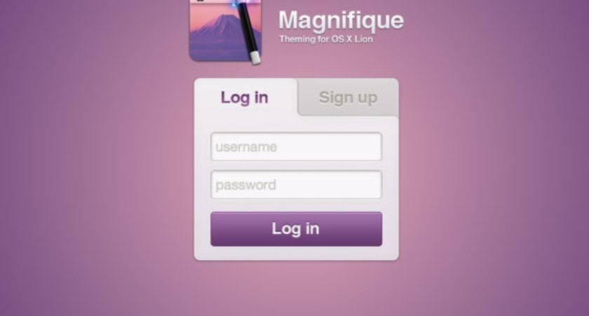 Login Design Inspirations Web Mantra