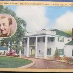 Longshaw White Border Postcard Bing Crosby Home Toluc People