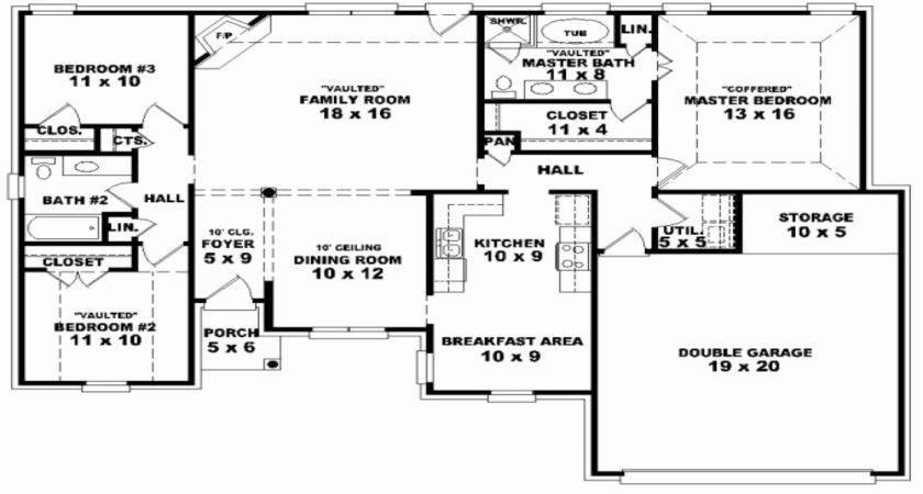 Luxury Bedroom House Plans One Story Bonus Room