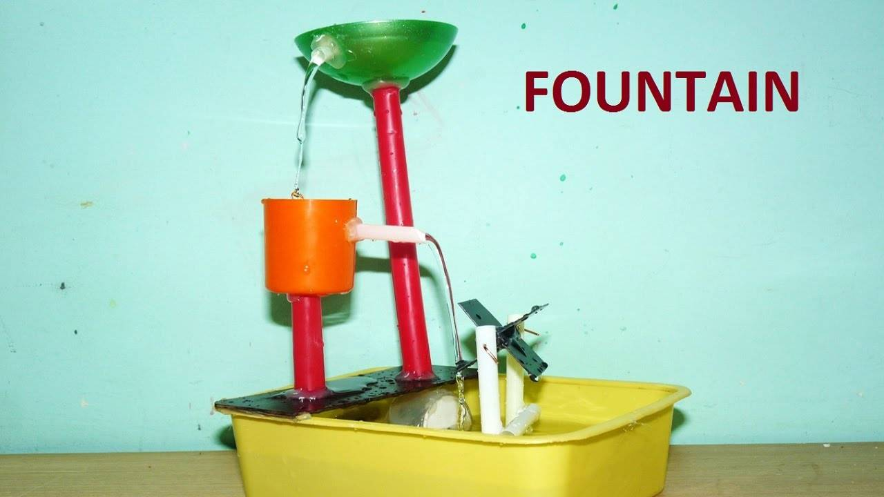 Make Small Tabletop Water Fountain Diy