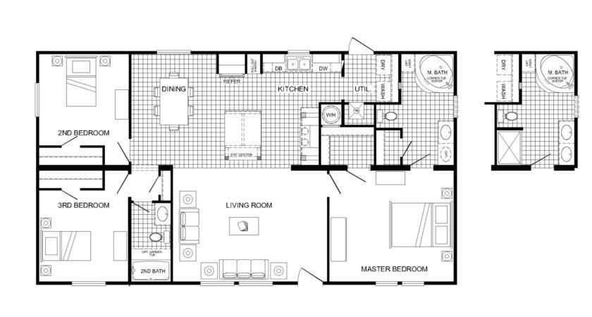 Manufactured Home Floor Plan Buccaneer