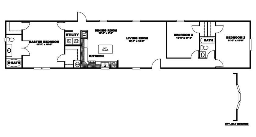 Manufactured Home Floor Plan Clayton Bayview Select