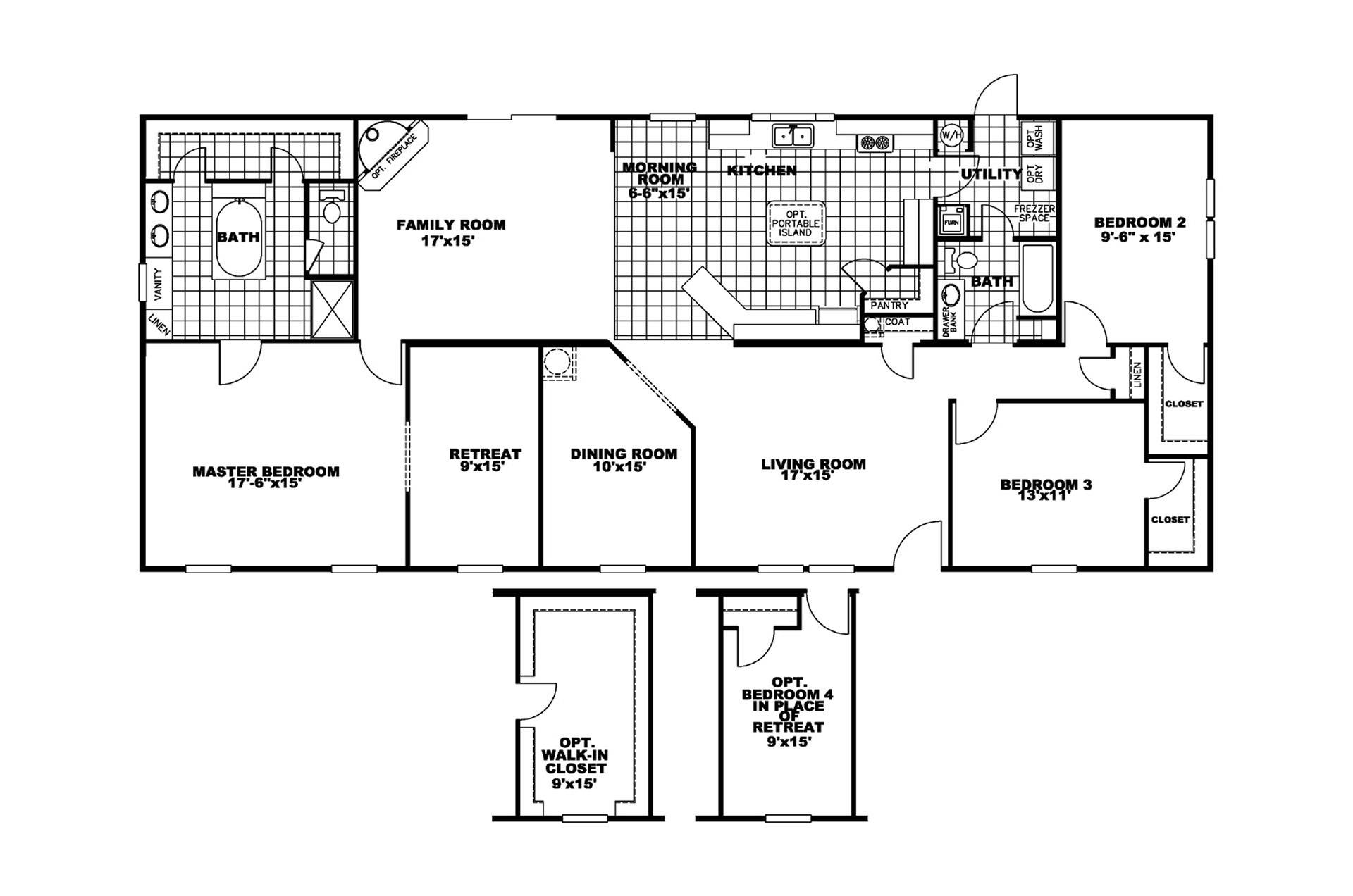 Manufactured Home Floor Plan Clayton Cypress Point Classic