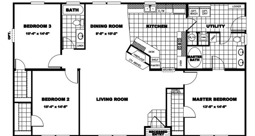 Manufactured Home Floor Plan Clayton Fireside