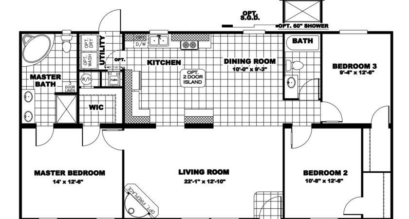 Manufactured Home Floor Plan Clayton Freedom