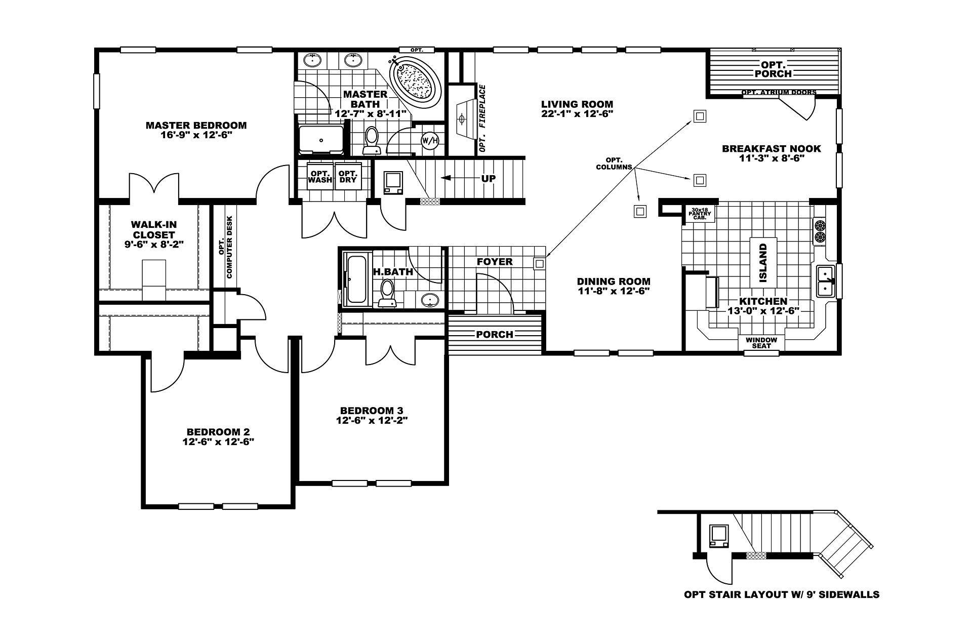 Manufactured Home Floor Plan Clayton Norris Leconte