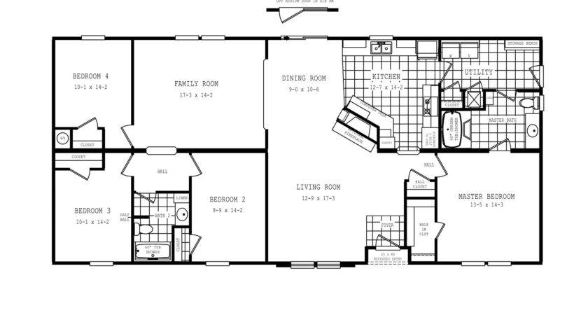 Manufactured Home Floor Plan Clayton Oakwood Fireside Bedroom