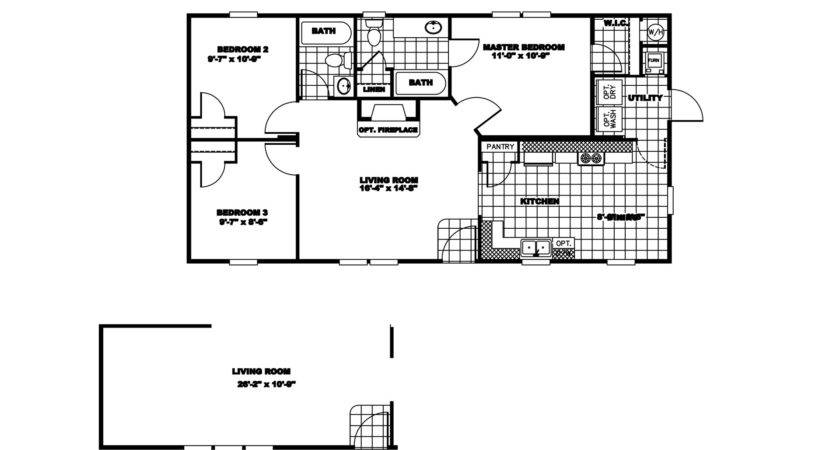 Manufactured Home Floor Plan Clayton River Run